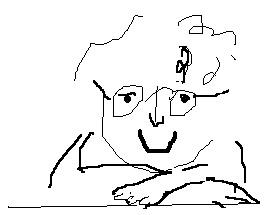 Karikatur Adrienne Braun Zeichnung Wiebke Trunk
