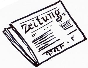 Zeichnung Zeitung Copyright Wiebke Trunk